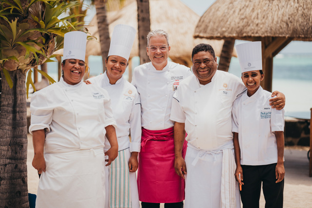 A resounding success: Star chef Camille Constantin's gourmet dinner at Paradis Beachcomber Golf Resort & Spa