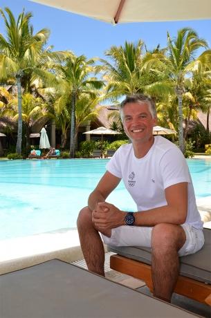 The French olympic equestrian champion, Karim Laghouag at Paradis Beachcomber
