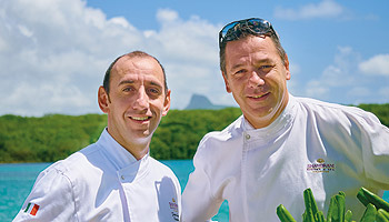 Award-winning chef Pierre Résimont at the Shandrani Resort & Spa