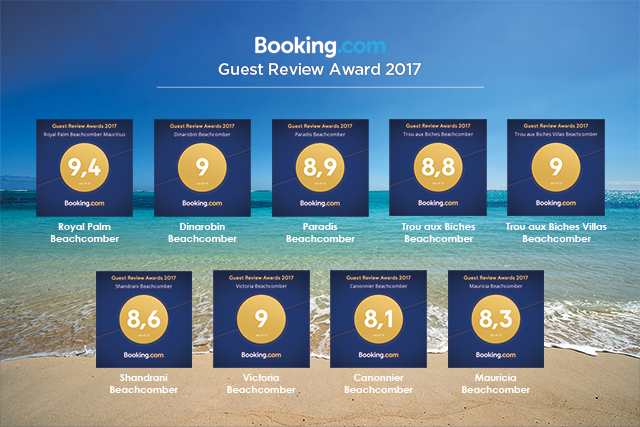 Beachcomber properties once again recognised by Booking.com