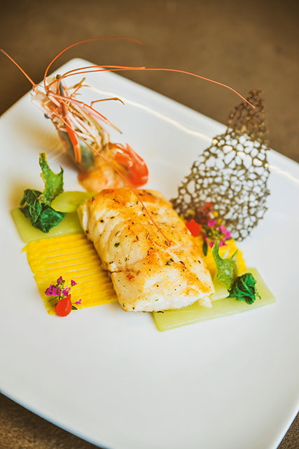 Chef Nived Puresh: Pan-fried red snapper and  prawns' tails with cumin