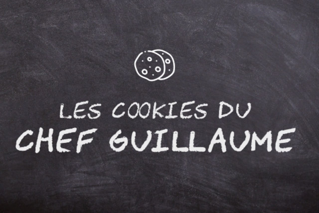 Chef Guillaume's homemade chocolate cookies with almond filling