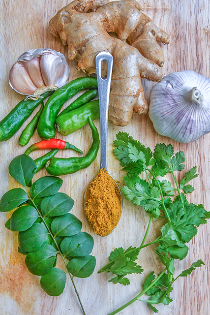 The most commonly used spices in Mauritian cuisine
