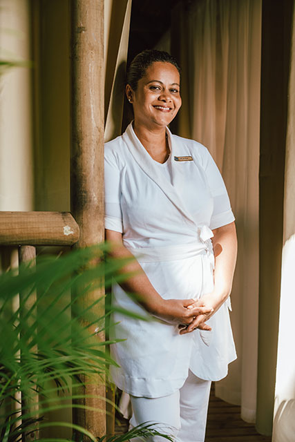 "Meeting with Roxane Cattacoopen, Wellness Coach, Victoria Beachcomber Resort & Spa: ""You have to breathe nature and always go back to Mother Earth."""