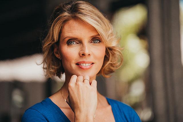 Sylvie Tellier at Dinarobin Beachcomber: