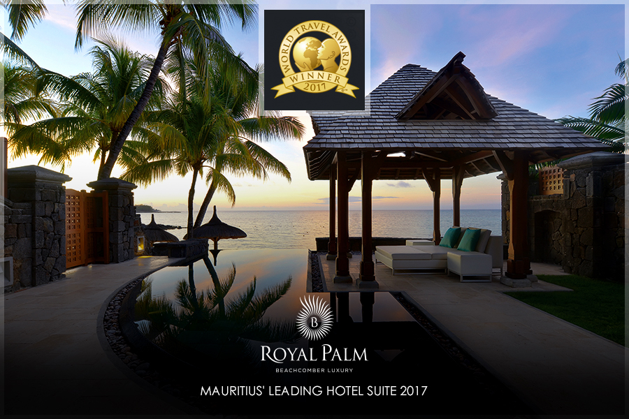 Royal Palm Beachcomber Luxury once again wins Mauritius' Leading Hotel suite at World Travel Awards